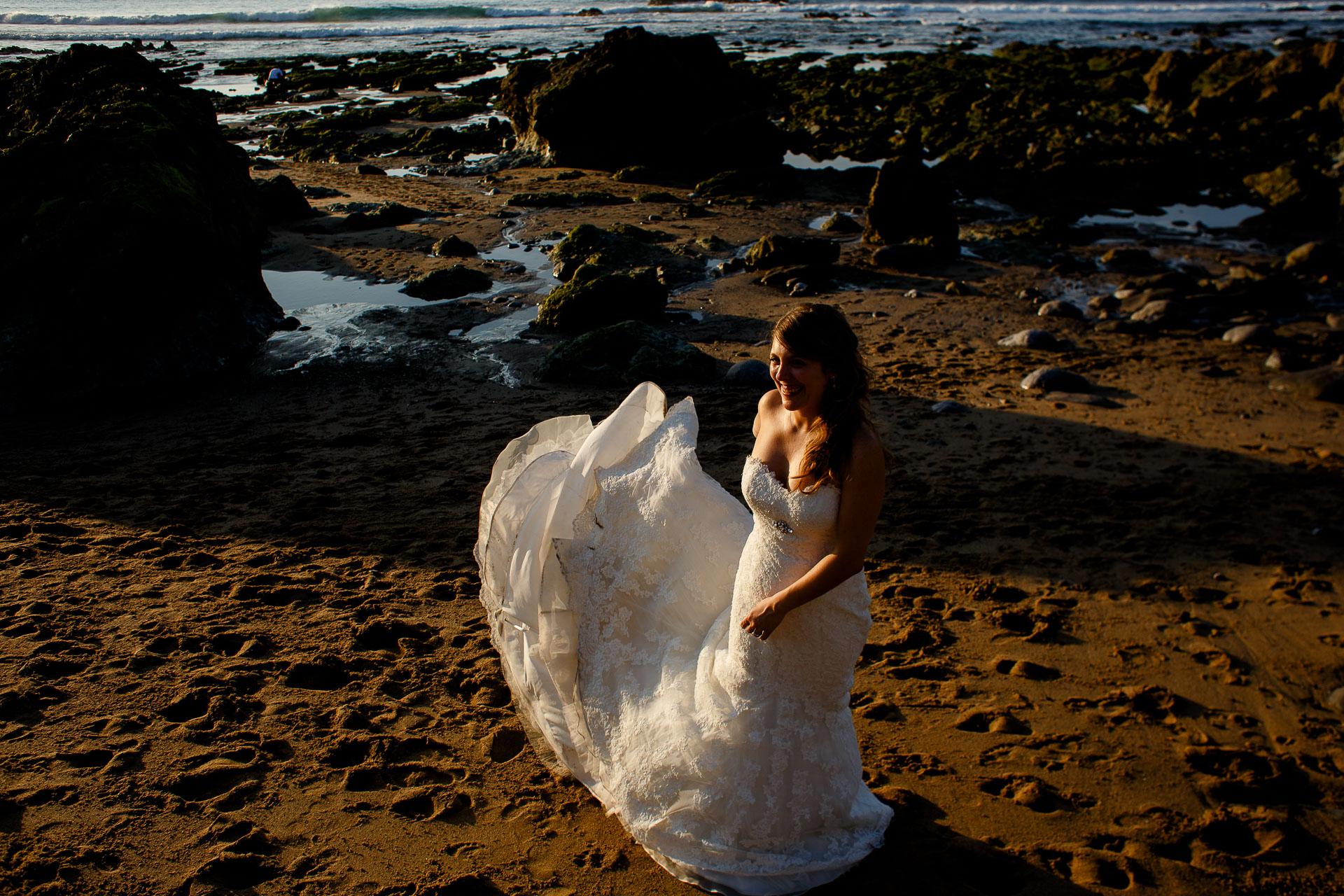 postboda en la playa de bakio