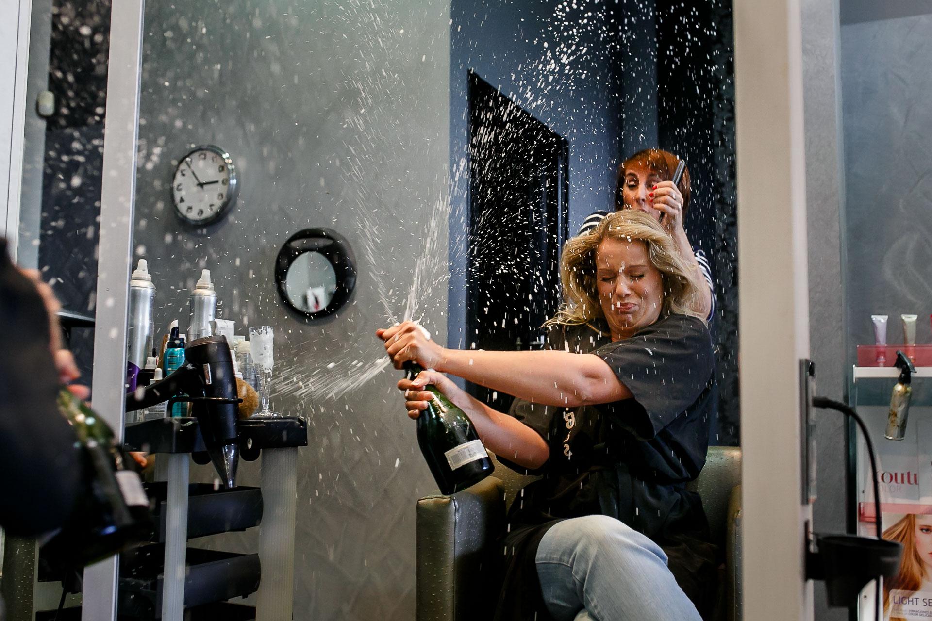 preparativos boda vitoria champan