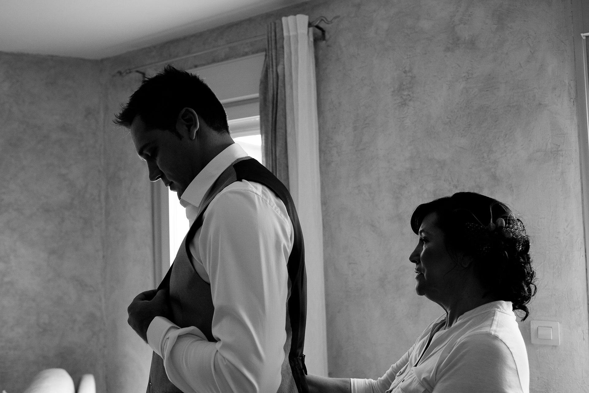 preparativos boda novio