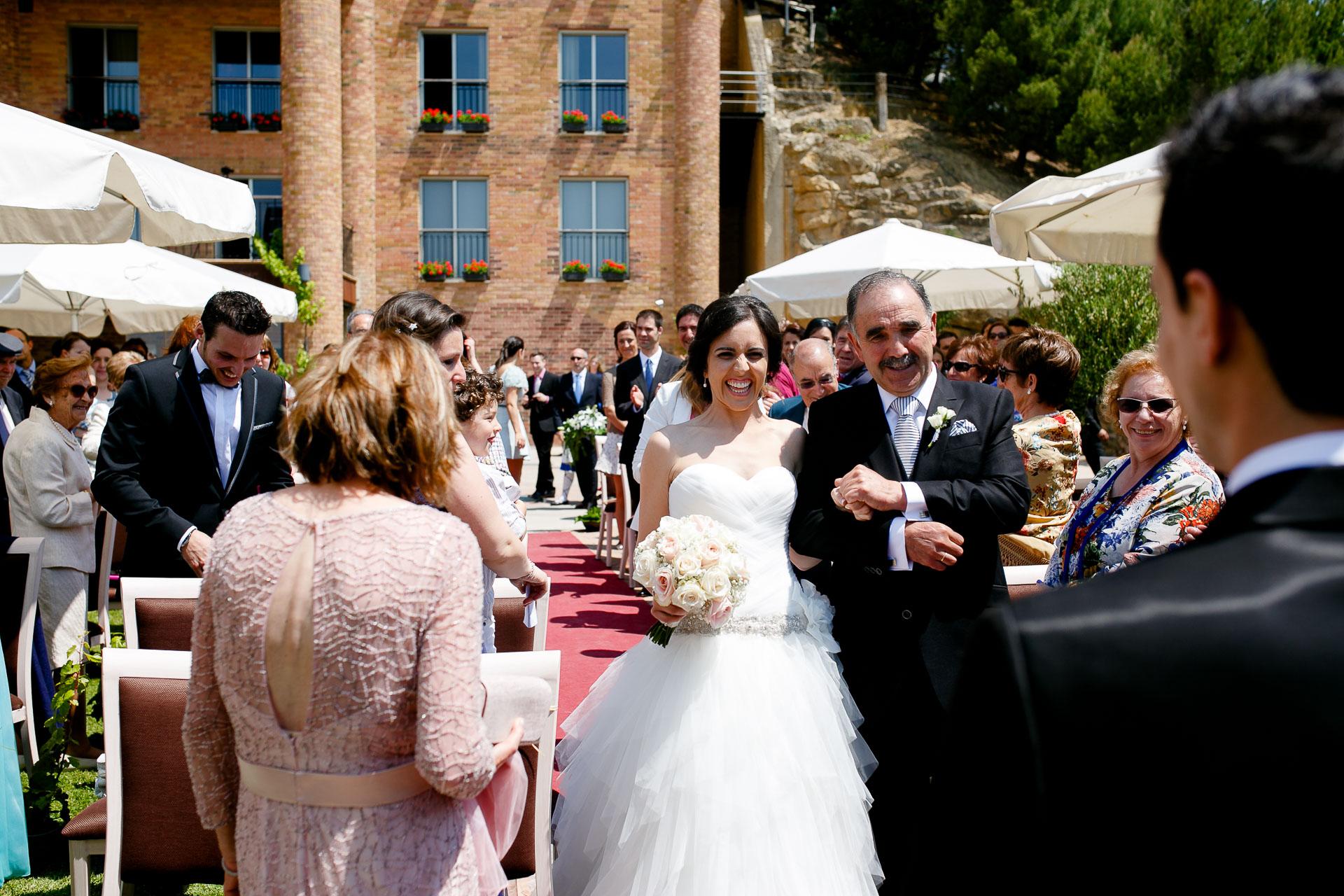 ceremonia boda bodegas eguren ugarte
