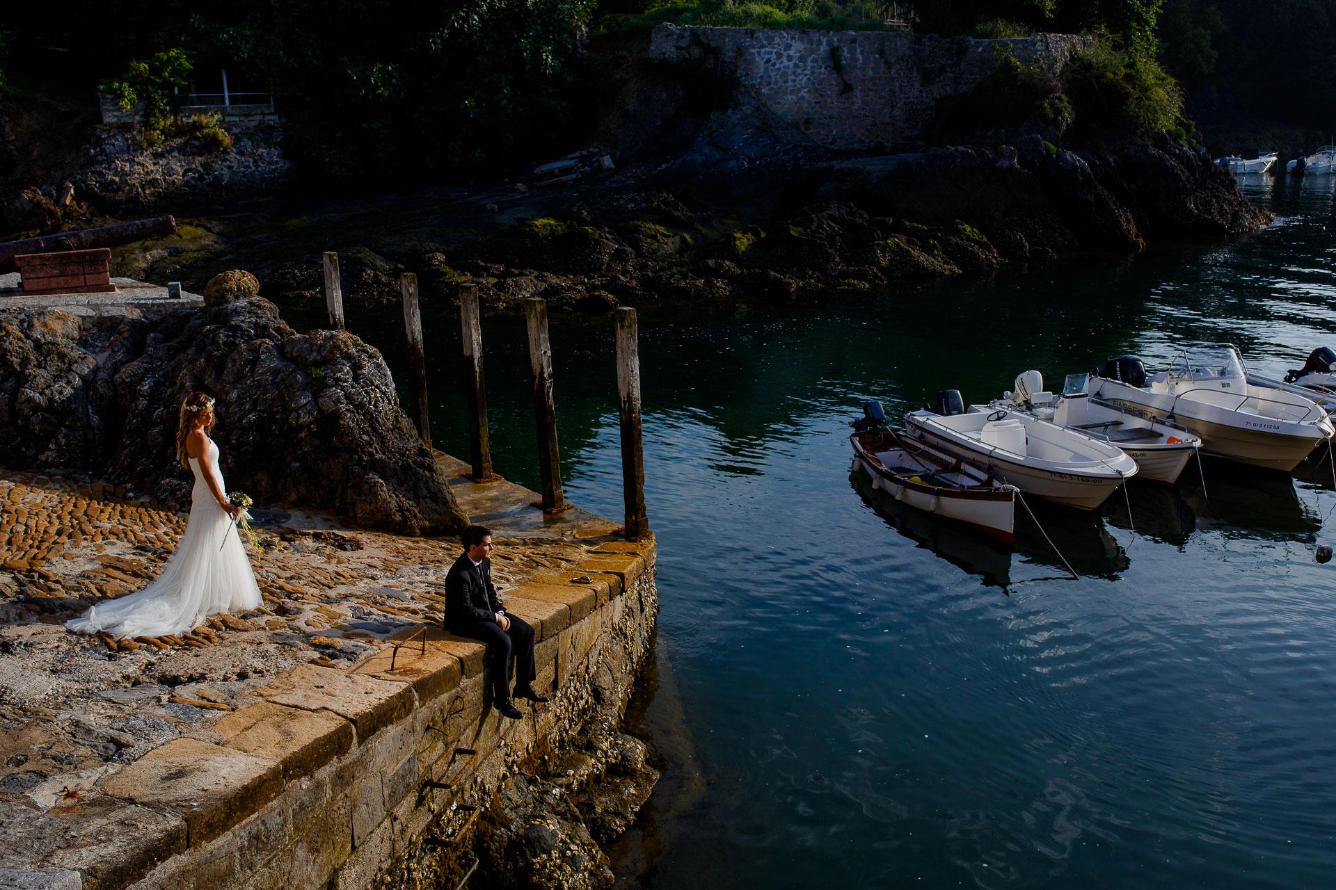 post boda puerto mundaka
