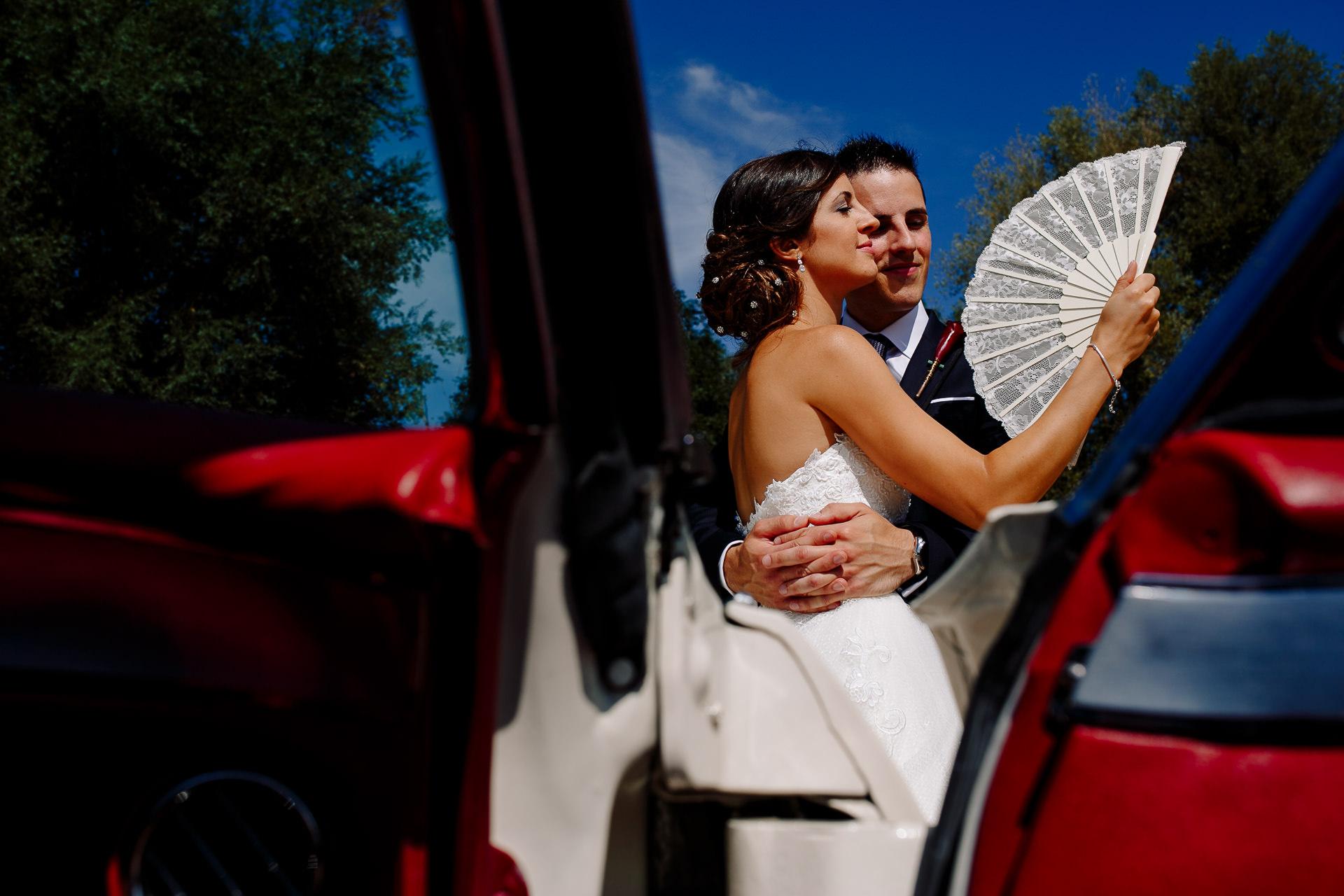 reportaje boda coche antiguo